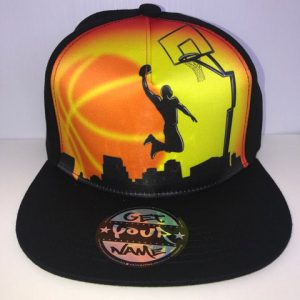 Basketball Airbrushed Hat