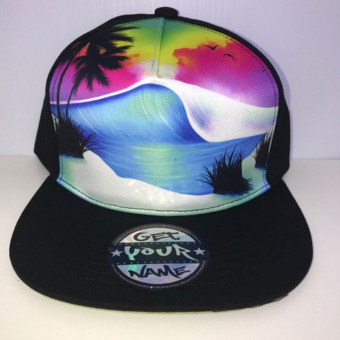 Beach Airbrushed Hat