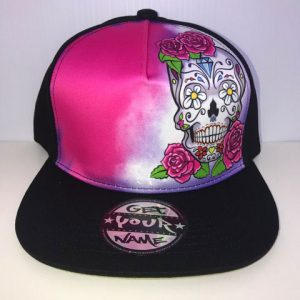 Candy Skull Airbrushed Hat