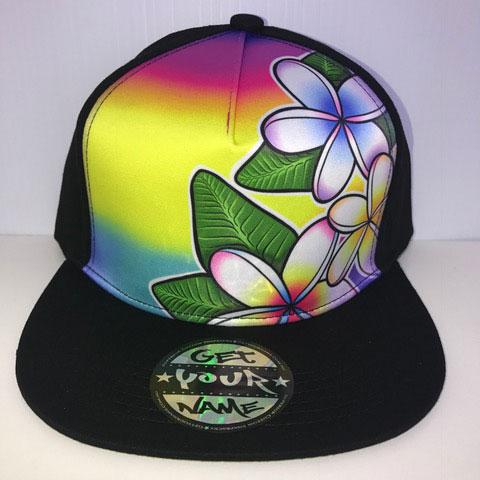 Frangipani Airbrushed Hat