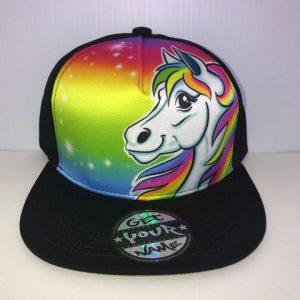 Unicorn Airbrushed Hat