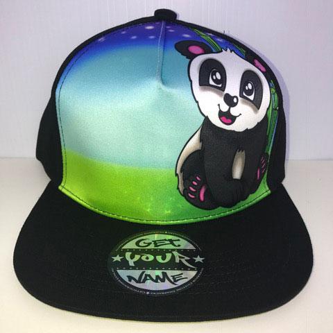 Panda Airbrushed Hat