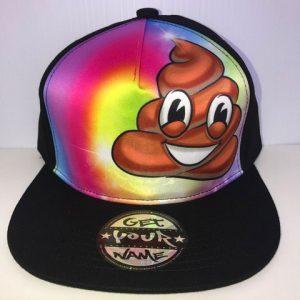 Poo Emoji Airbrushed Hat