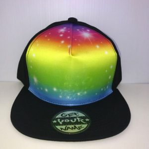 Rainbow Airbrushed Hat