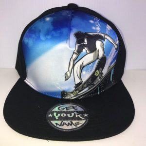 Skateboarder Airbrushed Hat