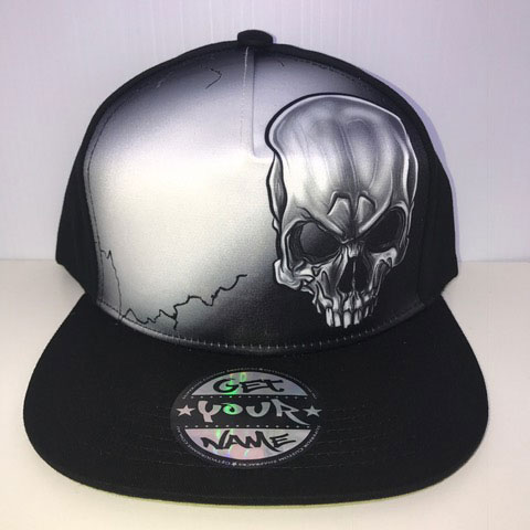 Skull Airbrushed Hat
