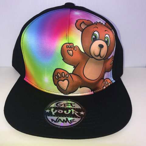 Teddy Airbrushed Hat