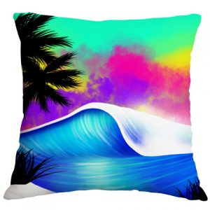 Beach Airbrushed Cushion Cover