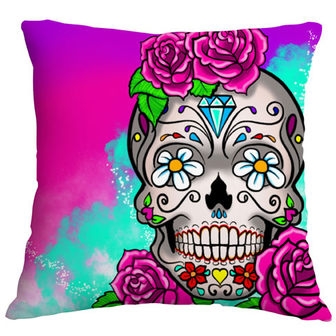 cushion-candyskull