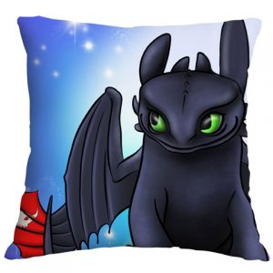 Toothless Airbrushed Cushion Cover