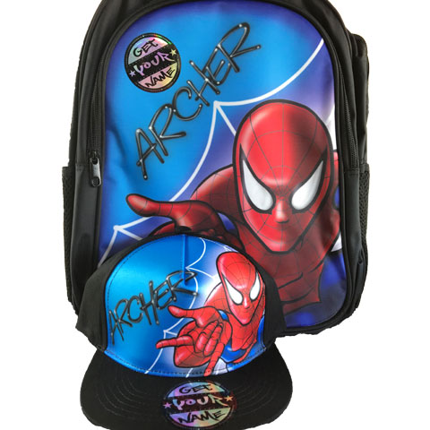 Spider Airbrushed Hat and Backpack Set
