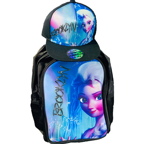Frozen Airbrushed Hat and Backpack Set
