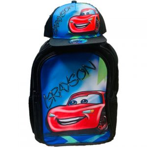 Lightning Airbrushed Hat and Backpack Set