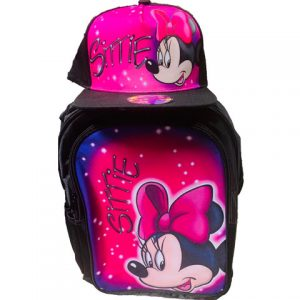 Minnie Airbrushed Hat and Backpack Set