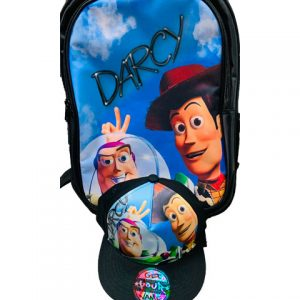 Toy Story Airbrushed Hat and Backpack Set